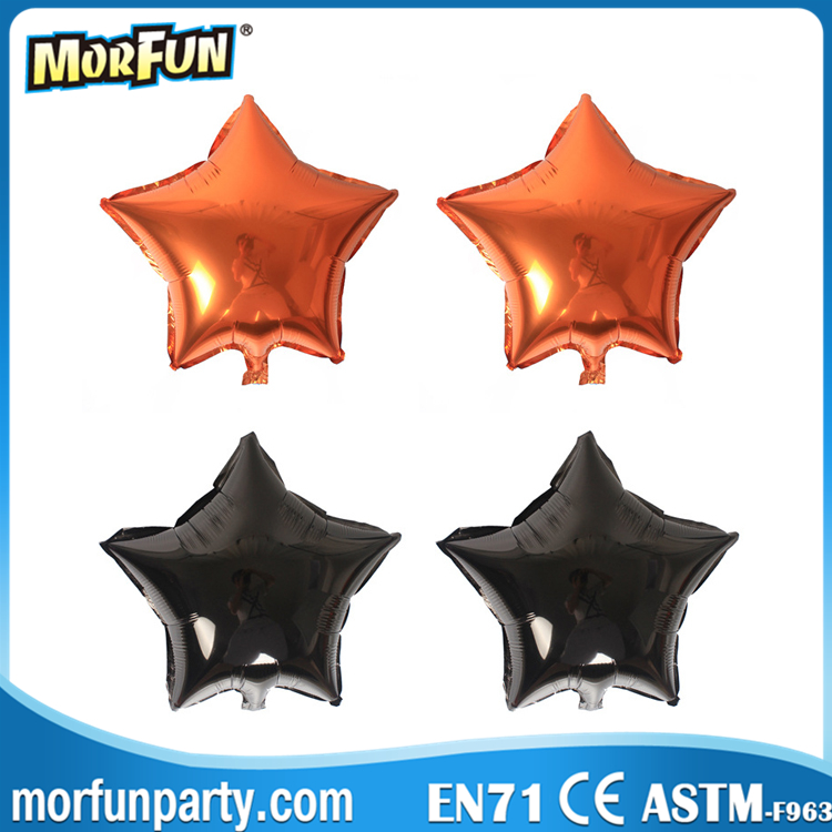Star Party Mylar Balloon Black and Orange Foil Balloons For Halloween Decoration