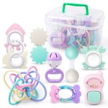 9 шт. детские игрушки-погремушки от 0 до 12 месяцев, колокольчик, детские игрушки для новорожденных, погремушки, прорезыватель, игрушка-колоко...(Китай)