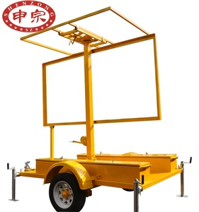 Mobile Solar Trailer Mobile Led Display Screen With Trailer