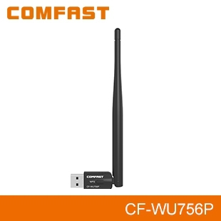 CF-WU756P 300Mbps wireless vga dongle for laptop Realtek 8192eu WPS button with 5dBi antenna