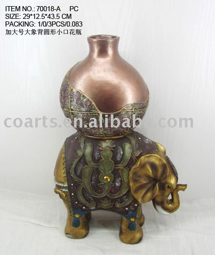 resin elephant flower vase