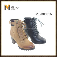 Minyo 2016 high heel platform ankle women boots