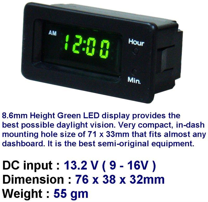 Model : LQ1200L LED Flush Mount Car Clock, View Car Clock, LEO Product  Details from LEO INSTRUMENTS (HK) LTD on Alibaba com