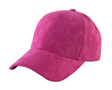 Wholesale Pink 6 Panel Suede Baseball Cap Without Logo