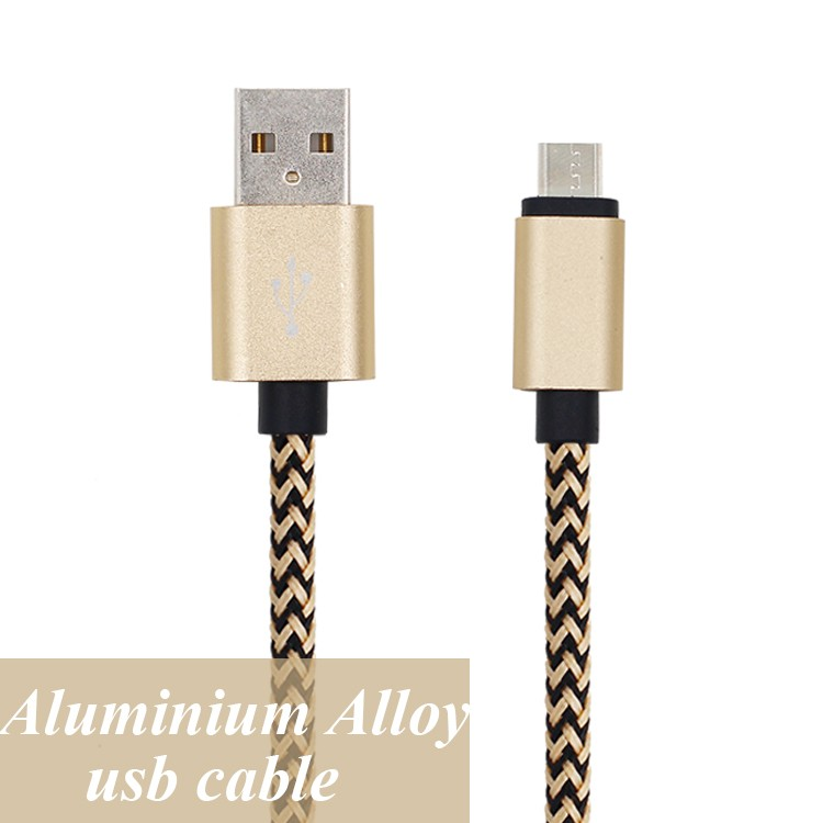 new products 2016 braided mental alloy data sync charger cable micro usb extenson leads