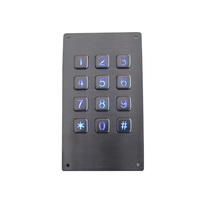 High quality door opener 3x4 keypad vandal resistant keypad