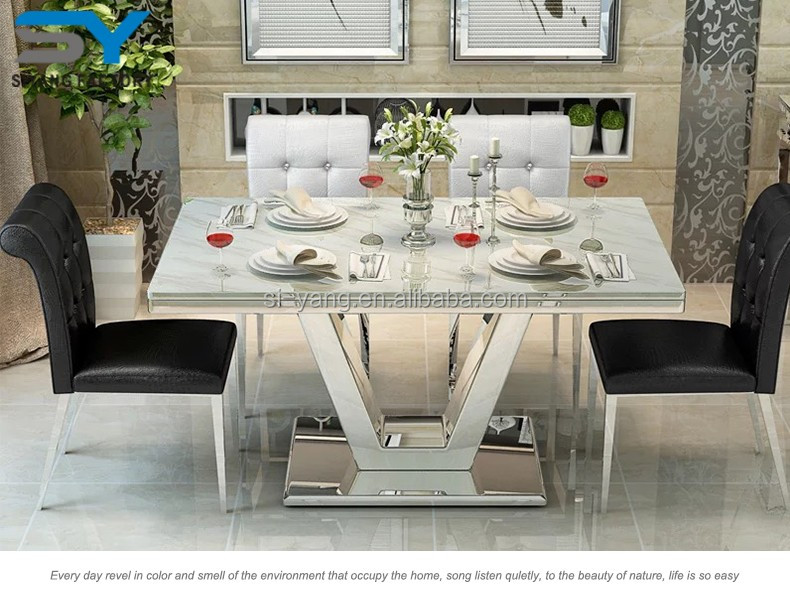Modern 6 Seater Granite Top Philippine Restaurant Dining Table Ct010 - Buy  Newest Design Simple Restaurant Dining Table,Outdoor Dining Table ...