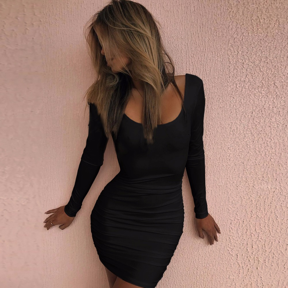 Black Long Tight Dress 176c0302c