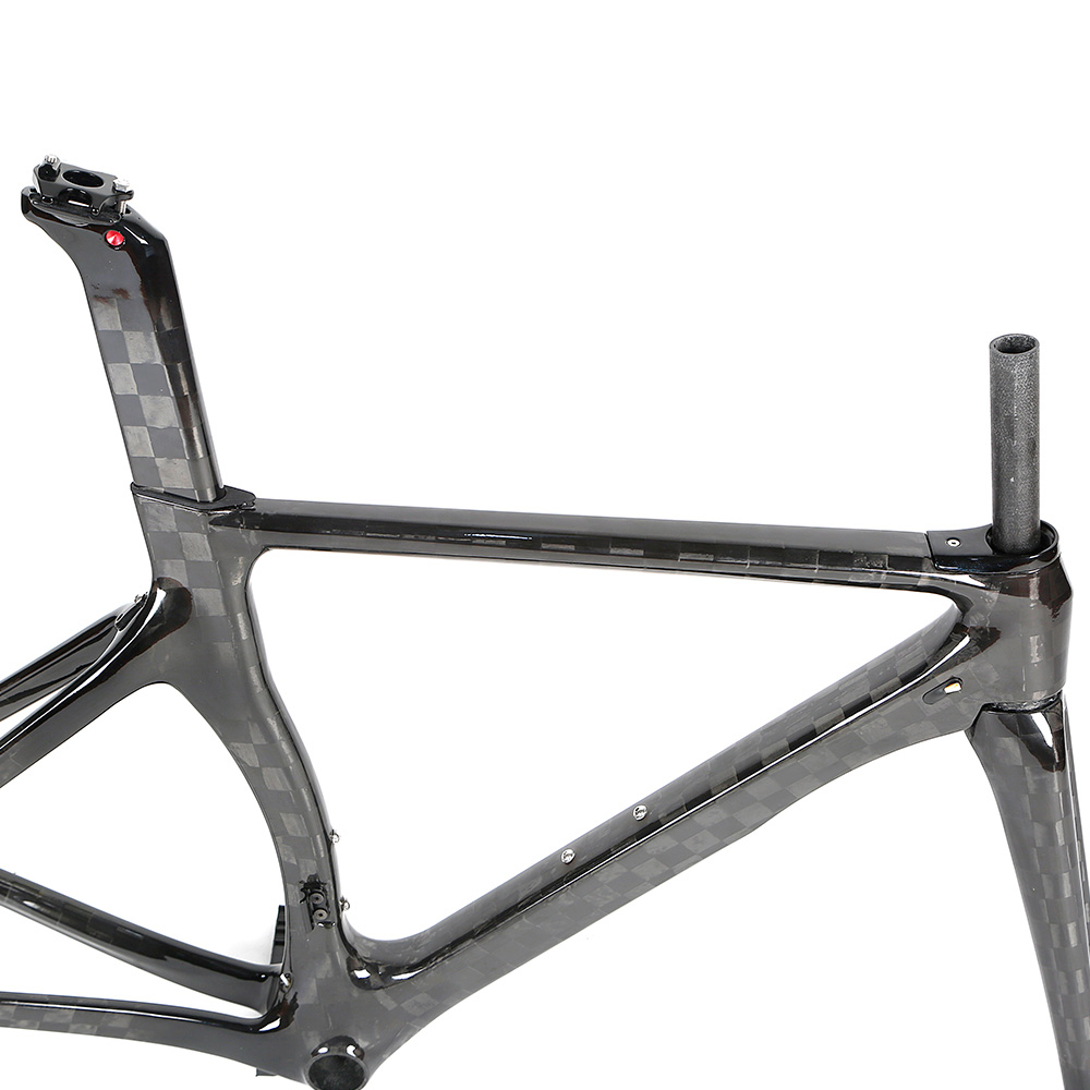 Head tube 44*54+BB92mm Pressed 2019 New Carbon Fiber Aero Road Bike Frame for Racing