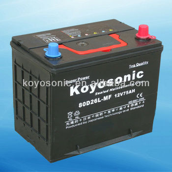 80d26l mf car battery view 80d26l mf car battery koyosonic product details from koyosonic. Black Bedroom Furniture Sets. Home Design Ideas