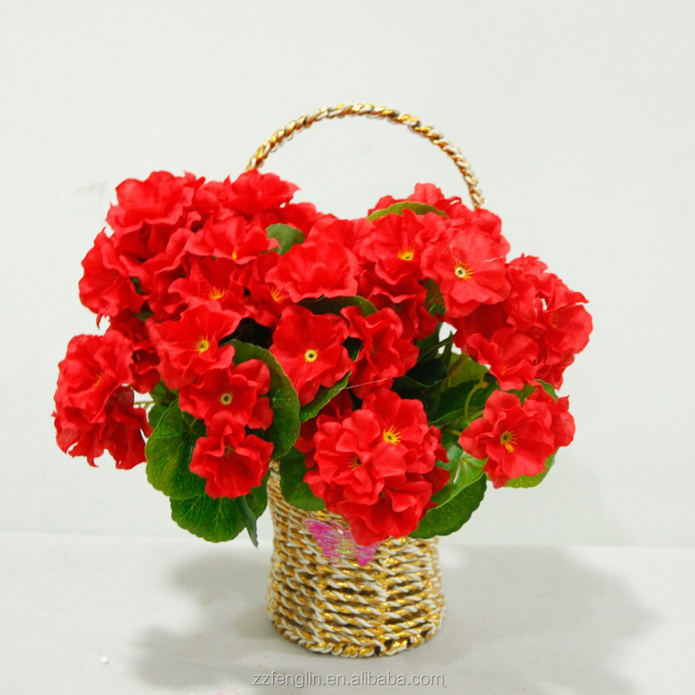 Christmas Decoration Artificial Flower Factory Mini Red Artificial