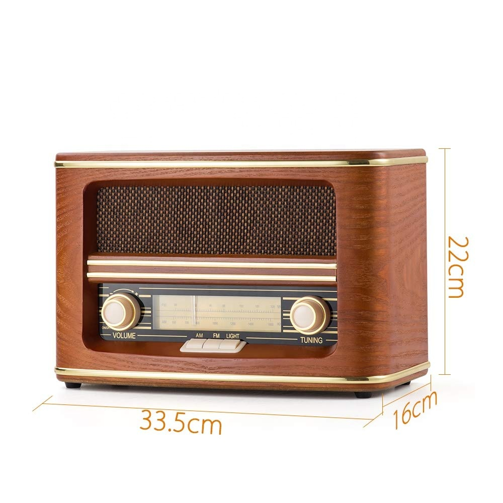 Real Wooden Vintage Fm Am Portable Radio With Built-in Stereo Speakers  Radio - Buy Am Fm Portable Radio,Vintage Portable Radio,Portable Radio With
