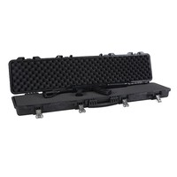 Hard plastic waterproof military storage transport large carrying rifle gun flight equipment case with foam