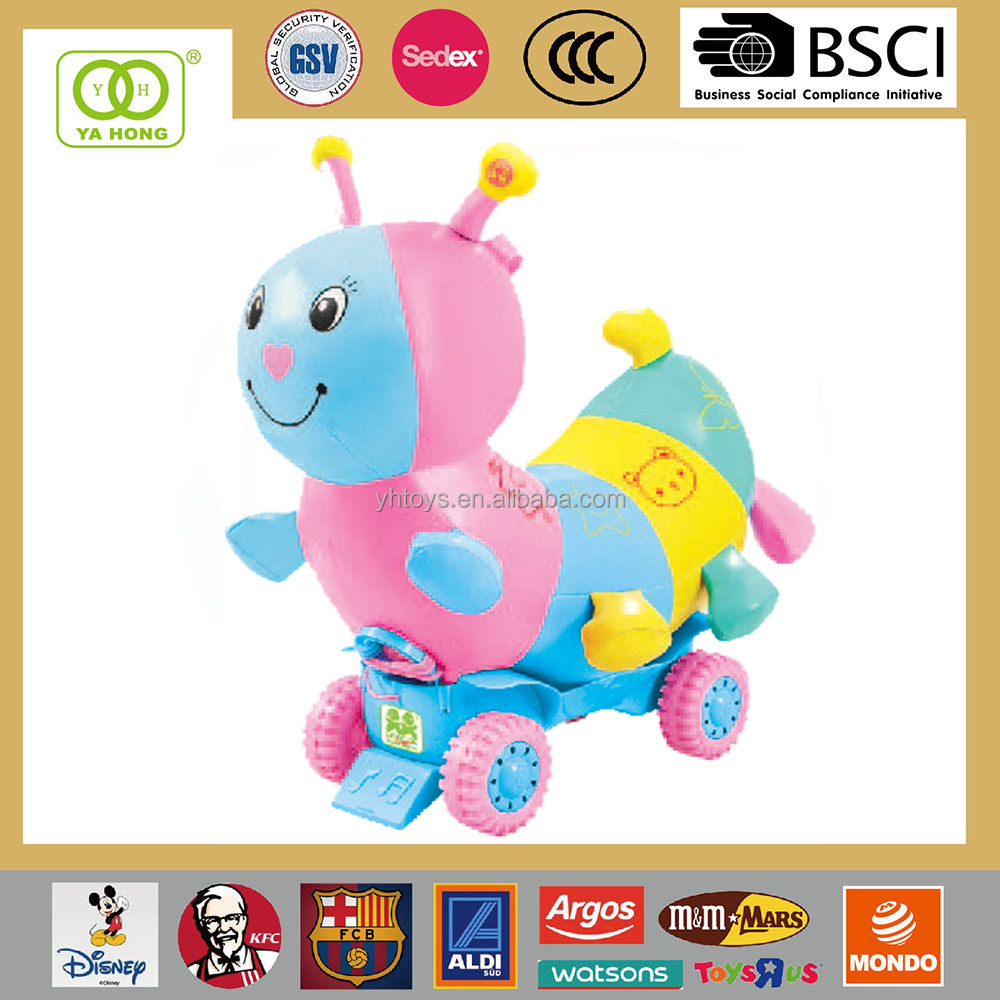 Baby walking sit-to-stand learning walker with music and shinning eyes animal ride on toy