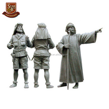 Factory custom made officer SAS and local man resin model kit satue resin model kit figures