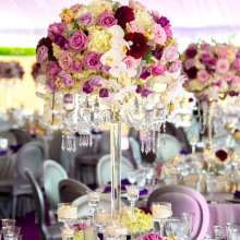 wholesale 90cm tall floor standing crystal candelabra with flower bowl