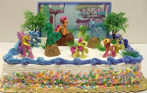Get Quotations My Little Pony Birthday Cake Topper Featuring 10 Random Characters Trees
