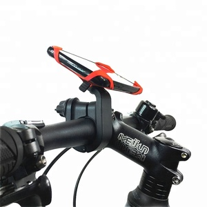 Brand New Design Mountain Bike Handlebar Mount Cellphone Holder GPS Smart Phone Support With Rubber Band