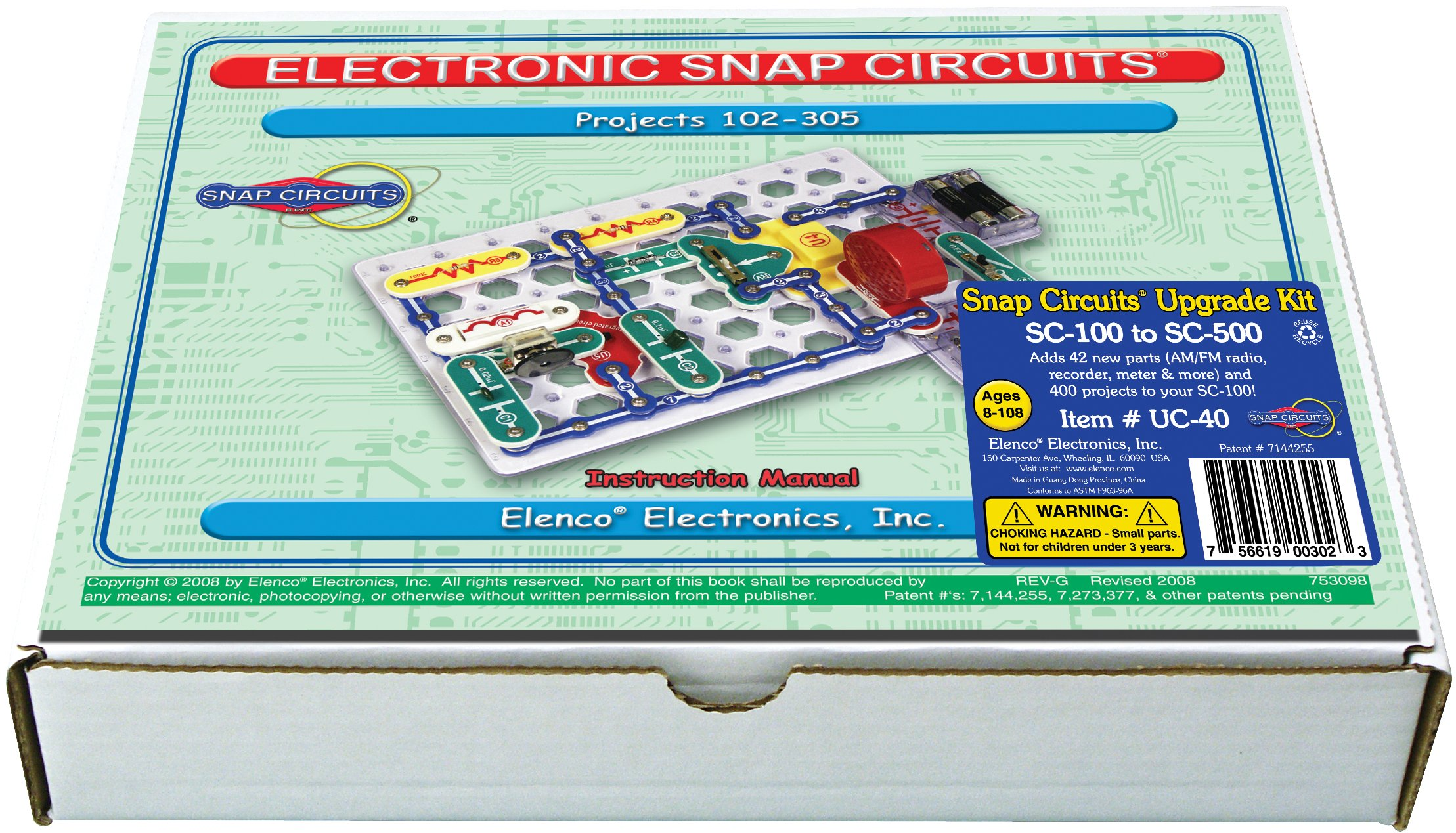 Buy Snap Circuits Pro Sc 500 Electronics Discovery Kit In Cheap Elenco Electronic Set Uc 40 Upgrade 100 To