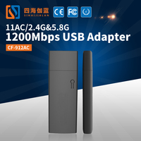 2017 Best Selling COMFAST CF-912AC RTL8812AU 1200mbps 802.11AC WiFi Dongle for Android TV Box