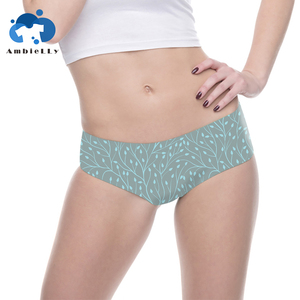 High Quality And Daily Wear Customized Size Design Your Own Pattern Lady Briefs Korea Underwear
