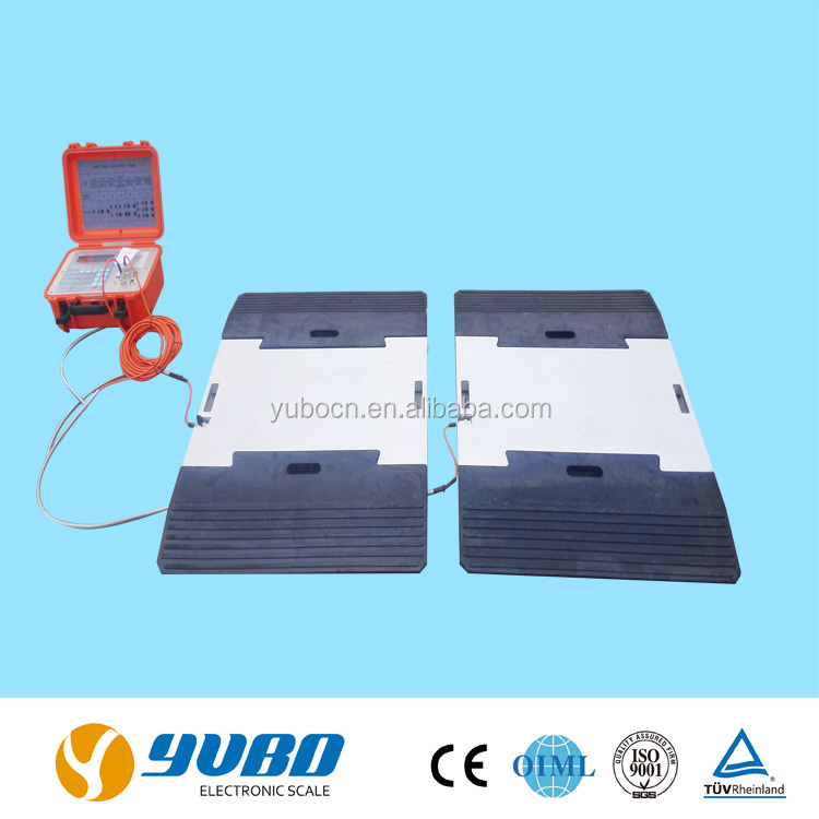 Portable truck scale ultra slim weighing pads