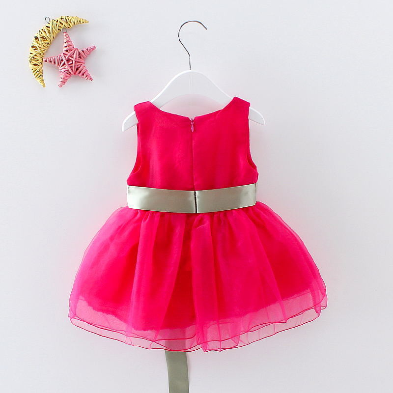 summer fashion casual kids vintage dress purple dresses for girls