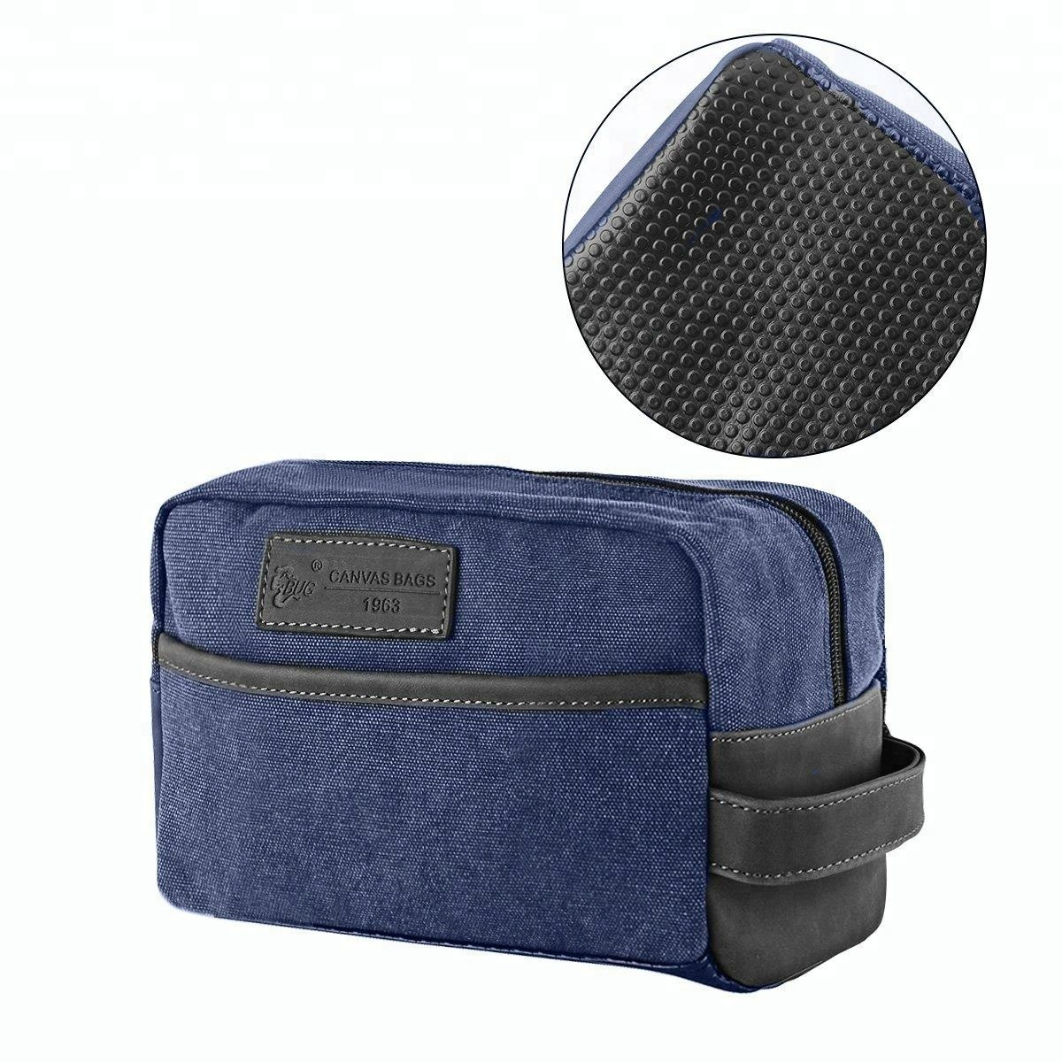 2019 Classic Vintage Canvas Wash Shower Organizer Waterproof Shaving Travel Toiletry Bag Men