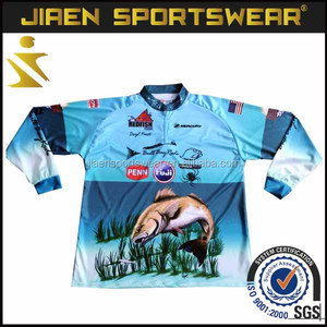 Bass Fishing Clothing Sublimated Mens Fishing Jerseys wholesale fishing jersey