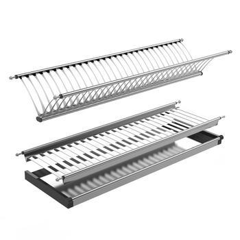 Hardware de gabinete de 2 niveles de cocina plato de acero inoxidable rack  accesorios de cocina 6323ab4c8c71