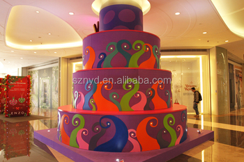 column pillar decoration shopping mall indoor promotion hotel christmas decoration