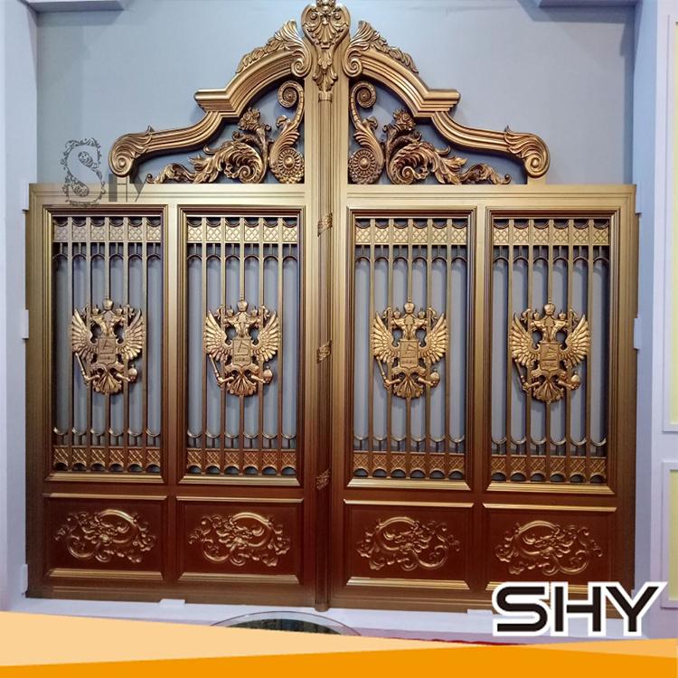 cheap modern house decorative cast aluminum main gate