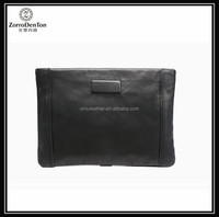 Genuine leather handmade women wallet lambskin leather clear big clutch bags for Ladies