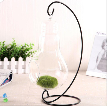 Light Bulb Crystal Glass Flower Vase Glass Terrarium Planter Hanging