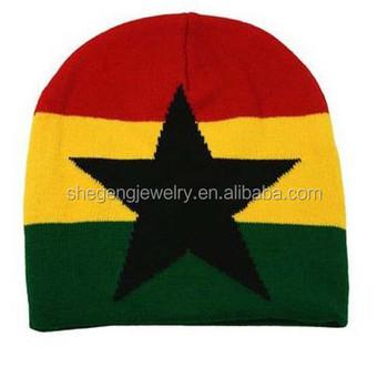 2476a4427 Knit Striped Plain Star Lion Of Judah Black Red Yellow Green Cap - Buy Weed  Leaf Knit Hat,Rasta Visor Beanie Skull Cap Stripe Jamaica Reggae,Slouch ...