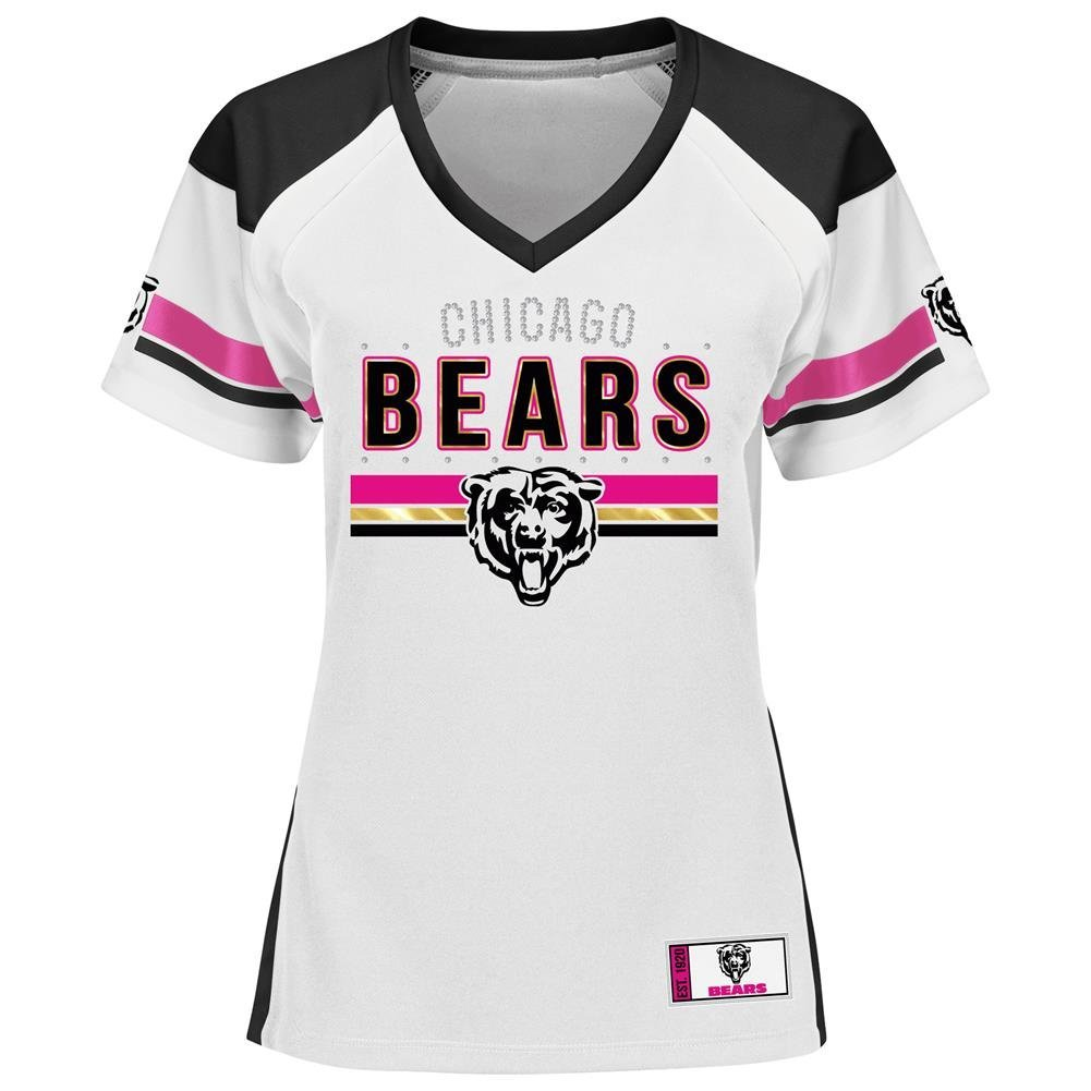 Chicago Bears Jersey Black and White Draft Me Tee