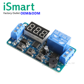 Digital Led Display Time Delay Relay Module Board Dc 12v Control Timer  Switch Trigger Cycle Module Car Buzzer Plc Automation - Buy Timer Relay