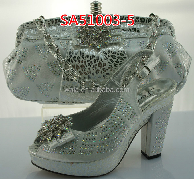 bag shoes heel 5 silver and bag shoes italian high party noble setSA51003 and xaS6cw7Wq