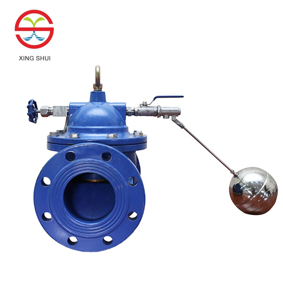 dn100 pn16 cast iron hydraulic float valve ball remote control valve 100X 4 inch water float ball valve