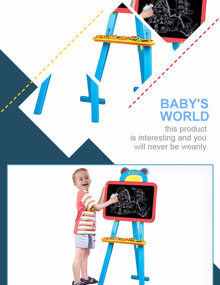 easy to assemble stand learning easel writing board for child