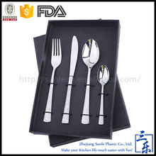 Hot Sale 4 Piece High Polished Stainless Steel Cutlery Set silver plated flatware sets