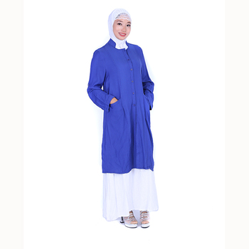 abaya in jordan islamic casual denim dress jacket with pocket