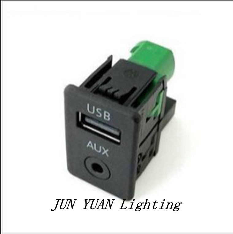 Wholesale-High quality!GENUINE RCD 510/310 Armrest AUX USB Switch Plug For  VW Passat B6 B7 CC 3CD 035 249 A,Free shipping!