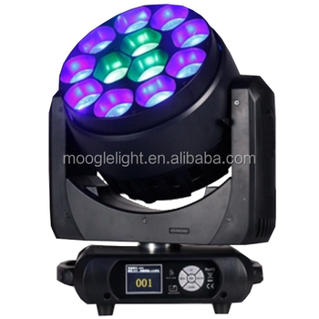 Moogle bar led moving head 12x40 watt rgbw 4in1lighting with zoom wash effect for television program