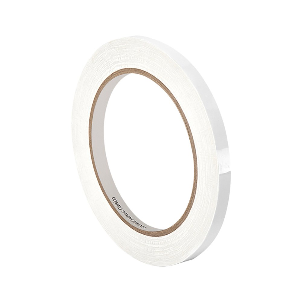 """TapeCase 1350F-1W 0.125""""X72YD (PK-4) White Polyester Film 3M Flame-Retardant Tape 1350F-1, 266 degrees F Performance Temperature, 0.0025"""" Thickness, 72 yd Length, 0.125"""" Width (Pack of 4)"""