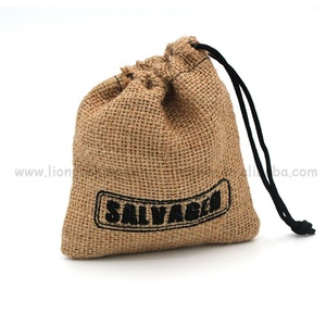 Free sample upper quality sac jute pouch burlap coffee bags for sale