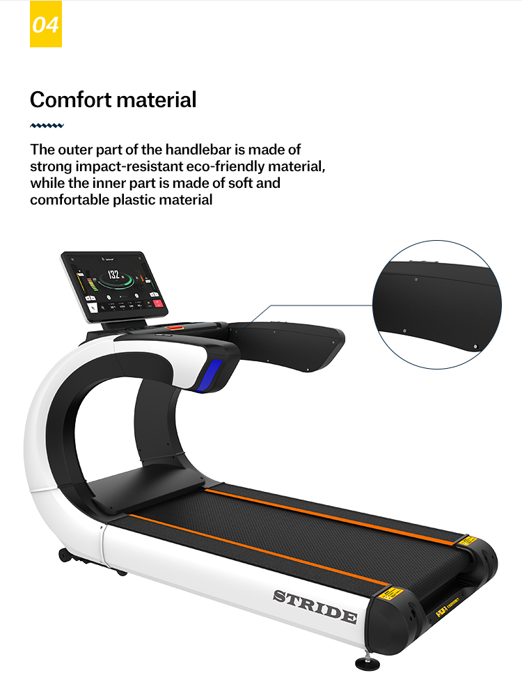 Full view screen commercial fitness gym equipment treadmill for sale