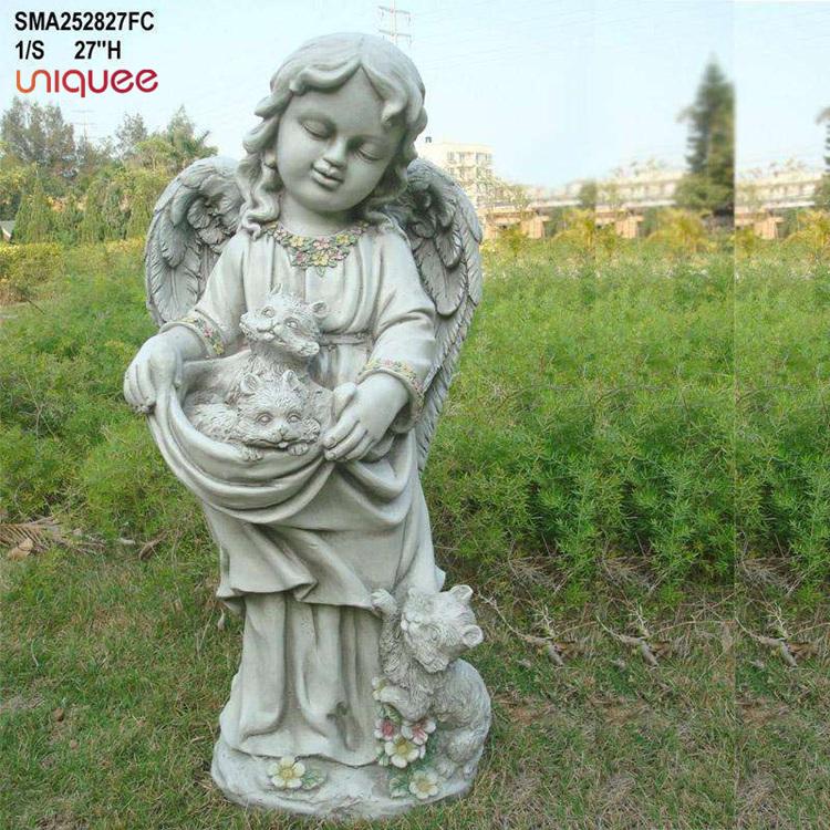 Garden Girl And Cat Statue Little Girl Garden Statues