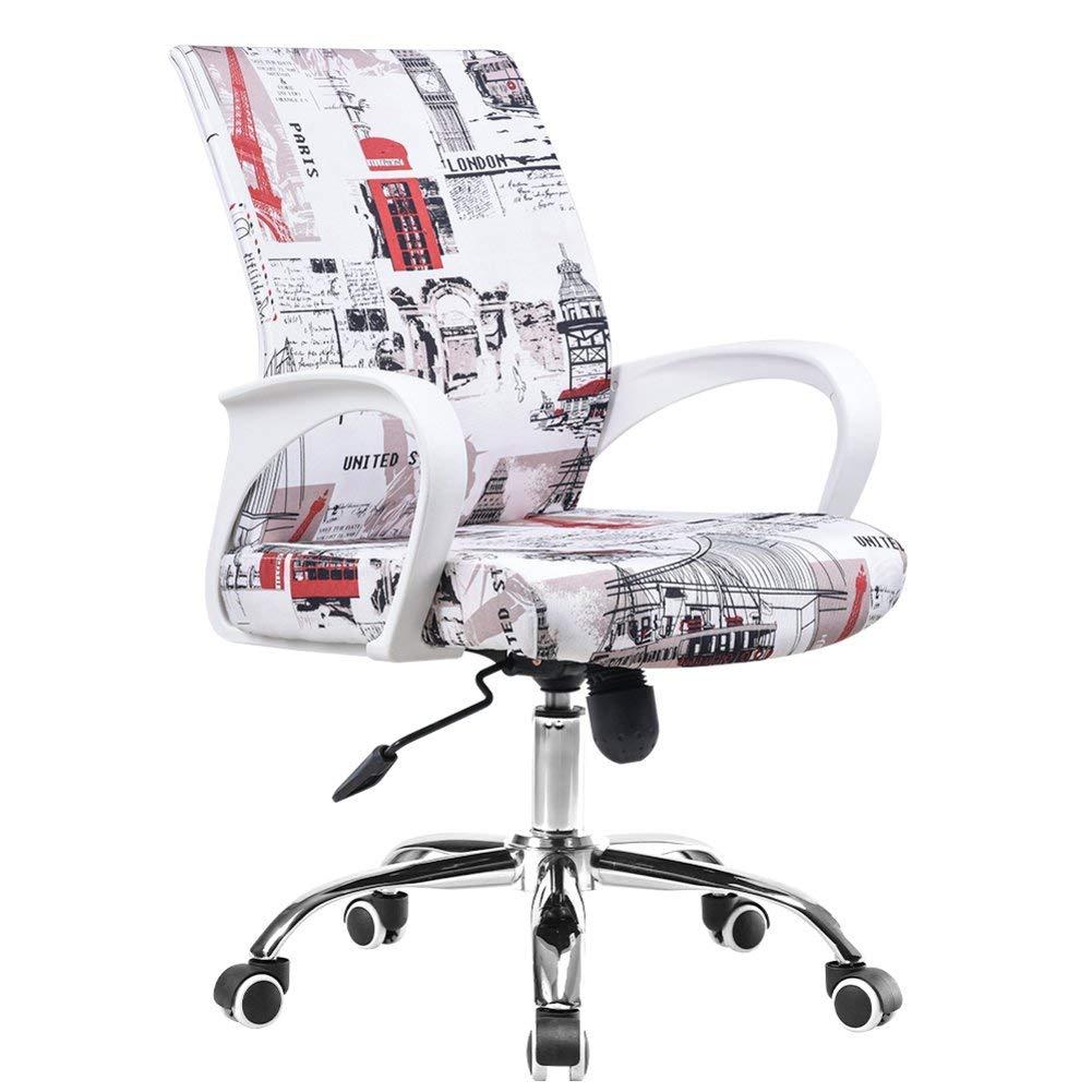 Office chair,Desk task computer Mesh Home chair Ergonomic Lumbar support Swivel Adjustable Mid back Wheel-B