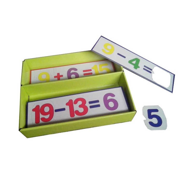 paper match number learning educational math teaching puzzles games for children